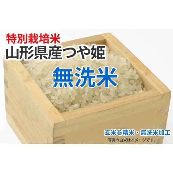 特別栽培米・つや姫【玄米1kgを精米・無洗米加工】