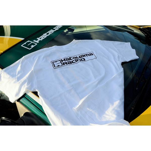 カタヤマレーシングTシャツ 白 S|katayamaracing|02