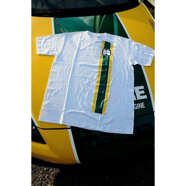 カタヤマレーシングTシャツ 白 M|katayamaracing