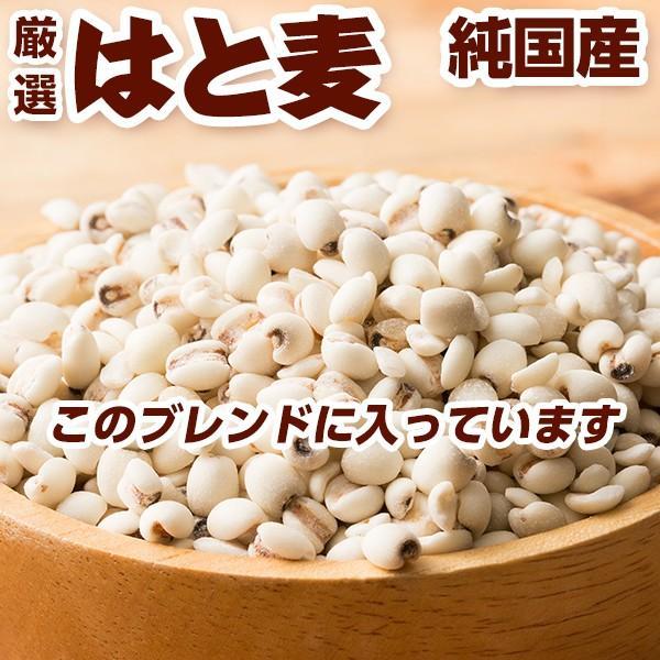 雑穀 麦 国産 麦5種ブレンド(丸麦/胚芽押麦/はだか麦/もち麦/はと麦) 1kg(500g×2袋) 送料無料 ダイエット食品 置き換えダイエット 雑穀米本舗|katochanhonpo|06