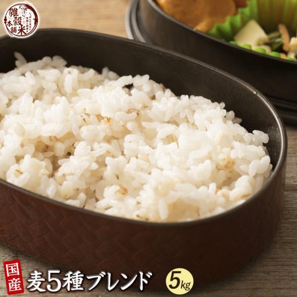 米 雑穀 麦 国産 麦5種ブレンド(丸麦/押麦/裸麦/もち麦/はと麦) 5kg(500g x10袋) 送料無料 雑穀米本舗|katochanhonpo