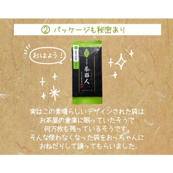 お茶 茶葉 日本茶 深むし茶 100g x3袋セット 送料無料 お茶の王国 静岡から 苦みの中に甘み お茶 日本茶 雑穀米本舗|katochanhonpo|05