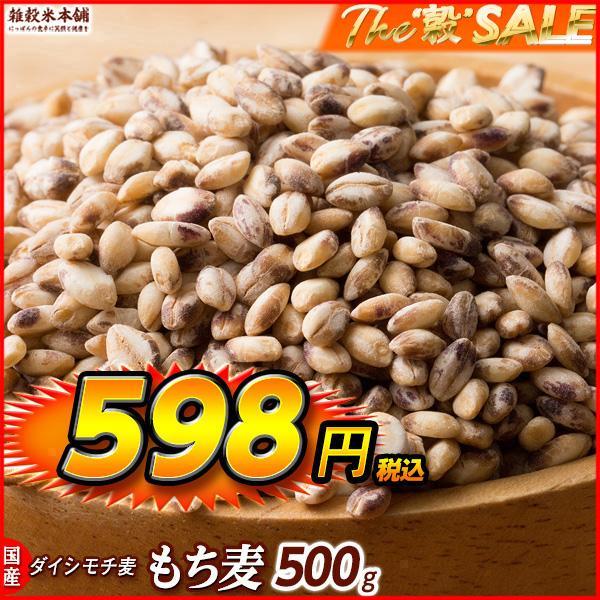 米 雑穀 麦 国産 もち麦(中粒) 500g 送料無料 高品質 厳選 ダイシモチ 腸内環境 脂肪激減 ダイエット 雑穀米本舗|katochanhonpo