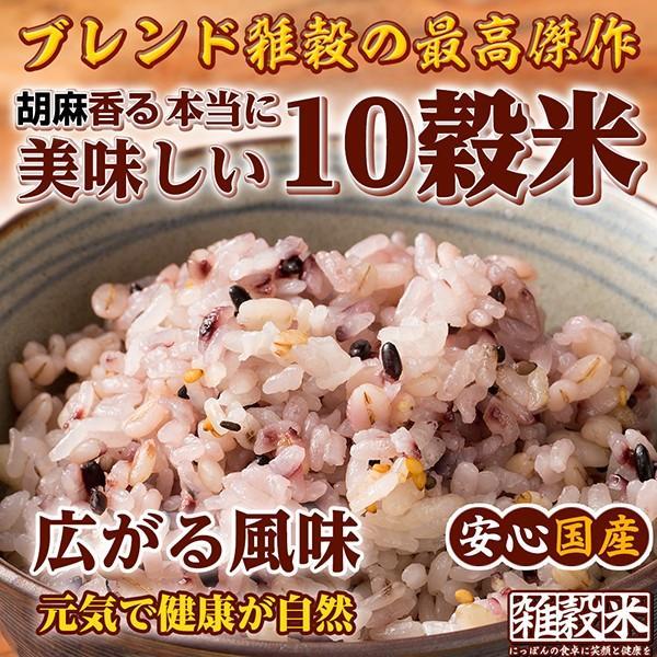 米 雑穀 雑穀米 国産 胡麻香る十穀米 1kg(500g x2袋) 送料無料 雑穀米本舗|katochanhonpo|03