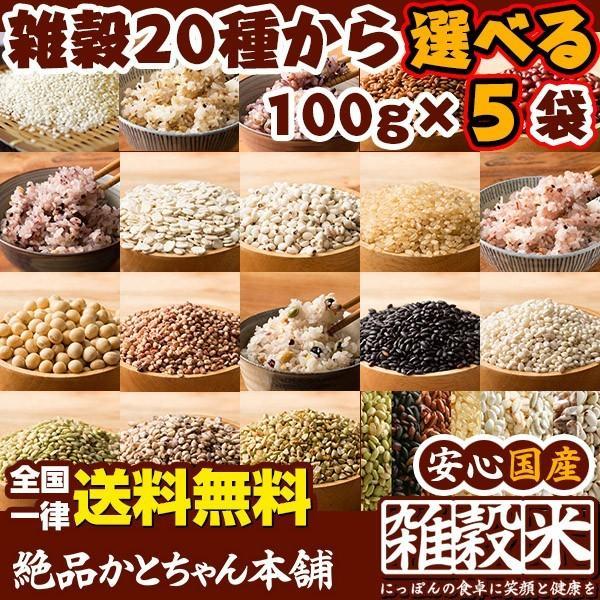 米 雑穀 雑穀米 国産 20種から選べる5品お試しセット 厳選 国産雑穀米 100g x5袋 送料無料 雑穀米本舗|katochanhonpo