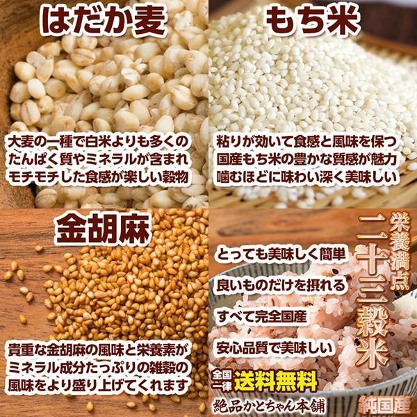 雑穀 雑穀米 国産 栄養満点23穀米 1kg(500g×2袋) 送料無料 国内産 もち麦 黒米 週末特価|katochanhonpo|10