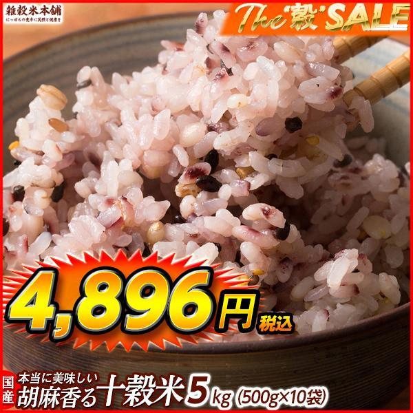 米 雑穀 雑穀米 国産 胡麻香る十穀米 5kg(500g x10袋) 送料無料 新時代幕開け katochanhonpo