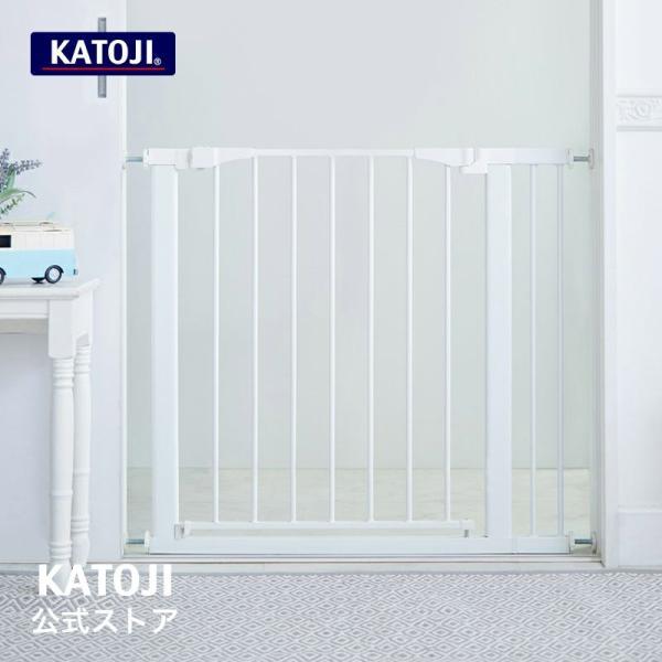 ベビーゲート   セーフティスチールゲート(ホワイト) KATOJI ( カトージ )