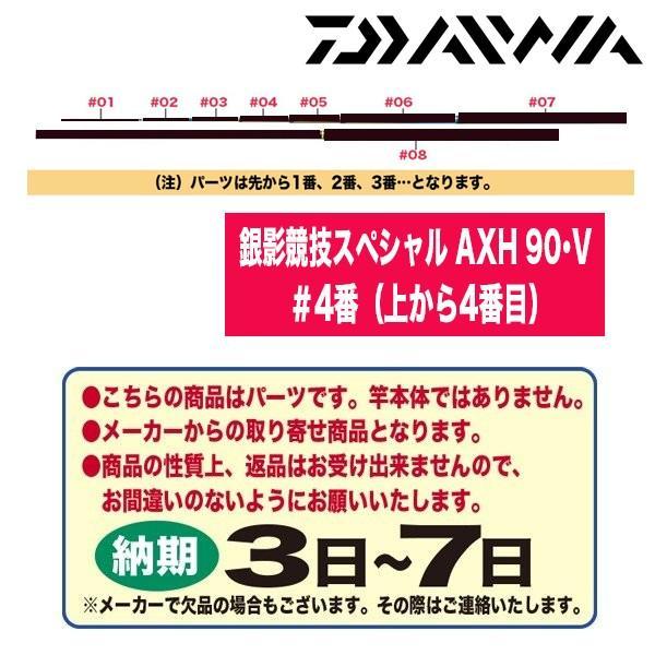 ダイワ 鮎ロッドパーツ 116206 銀影競技スペシャル AXH 90・V #4番(上から4番目)