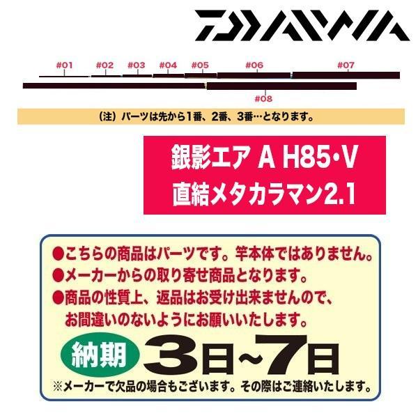 ダイワ 鮎ロッドパーツ 116329 銀影エア A H85・V 直結メタカラマン2.1