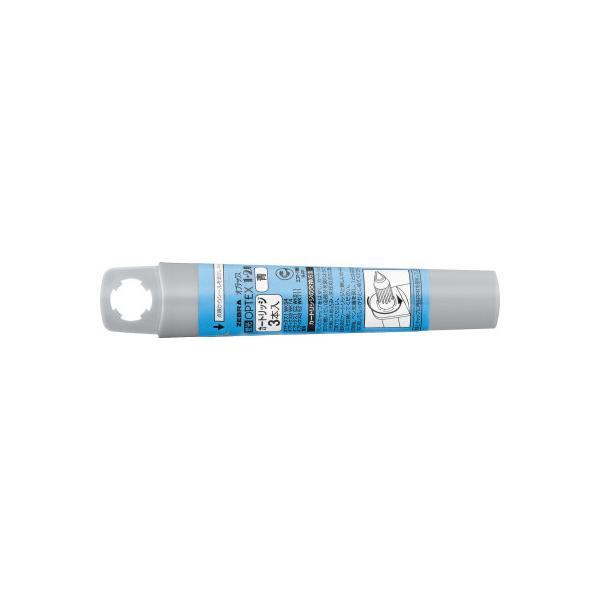 ゼブラ 蛍光オプテックス1・2用カートリッジ 青 30本