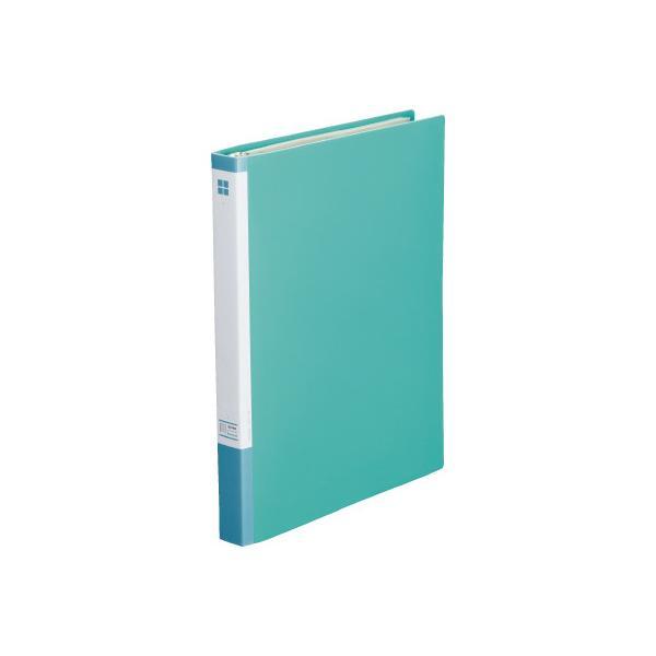 カウネット 名刺ファイル差替式A4縦 30穴300名 緑×10