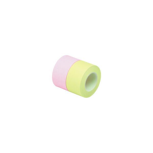 スリーエムジャパン ポストイット全面粘着ロール25mm 桃&黄緑 詰替