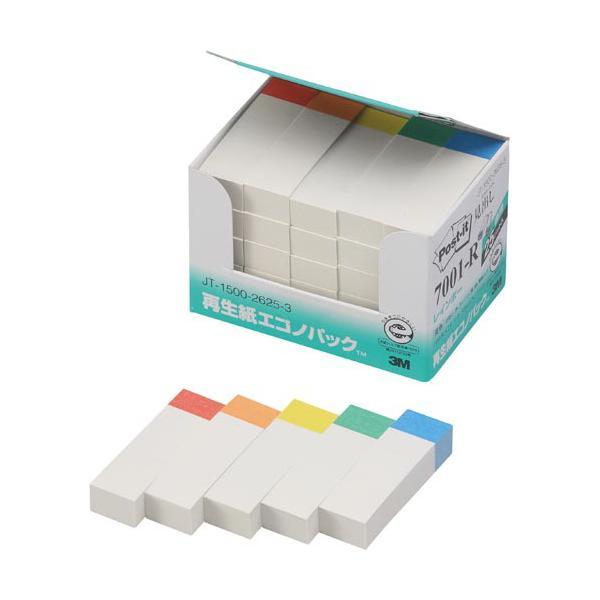 スリーエムジャパン ポストイット 再生紙見出し50×15色帯5色25冊