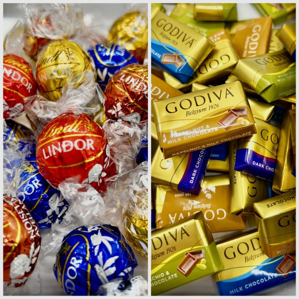 リンツリンドール12個&ゴディバナポリタン12個チョコチョコレート個包装スイーツお菓子_(食品A12-NPR12)
