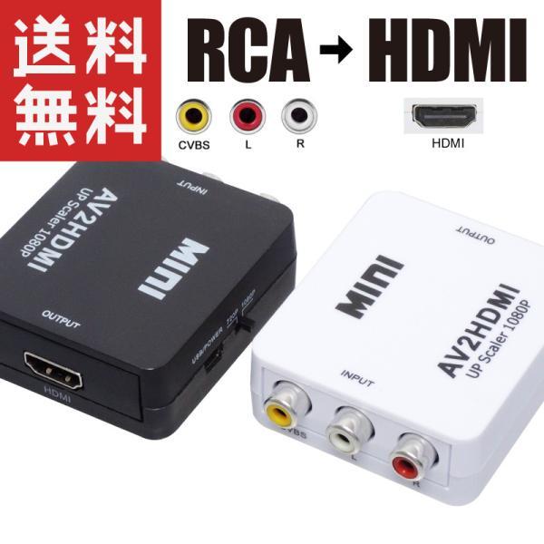 RCA → HDMI 変換 コンバーター HDMI出力 AV2HDMI