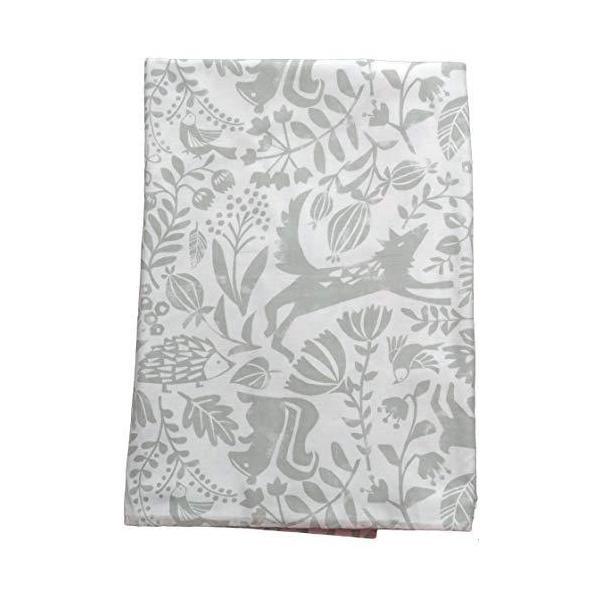 CAMEL PALMS 日本製 綿100% ガーゼ 毛布カバー シングル 145×205cm 森の動物たちA kavutens