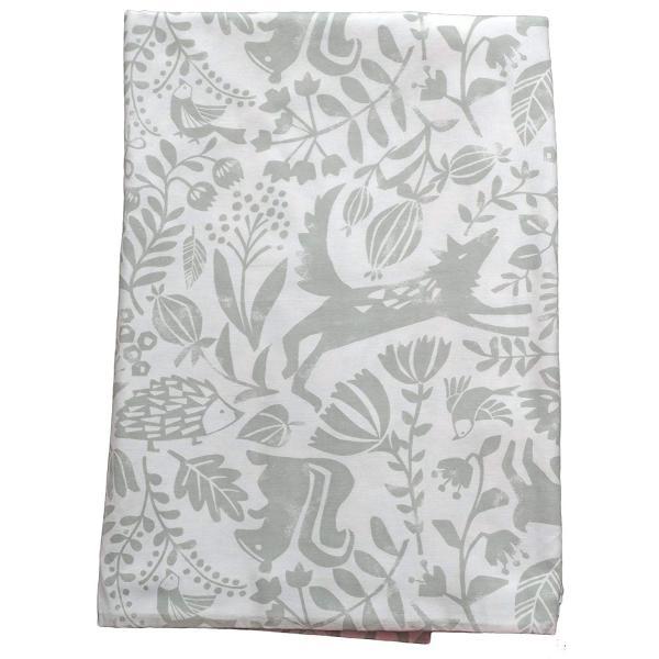 CAMEL PALMS 日本製 綿100% ガーゼ 毛布カバー シングル 145×205cm 森の動物たちA kavutens 05