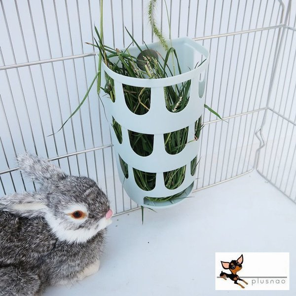 小動物用食器 牧草フィーダー 牧草 牧草入れ うさぎ モルモット チンチラ フェレッド プラスチック 無地 シンプル 餌入れ