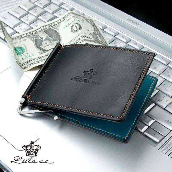 マネークリップ 本革 薄い 薄型 スリム カード レザー 財布 メンズ 札ばさみ ブランド おしゃれ 人気 二つ折り財布 プレゼント 包装無料 kawa-ee