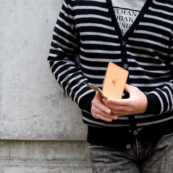 マネークリップ 本革 薄い 薄型 スリム カード レザー 財布 メンズ 札ばさみ ブランド おしゃれ 人気 二つ折り財布 プレゼント 包装無料 kawa-ee 06