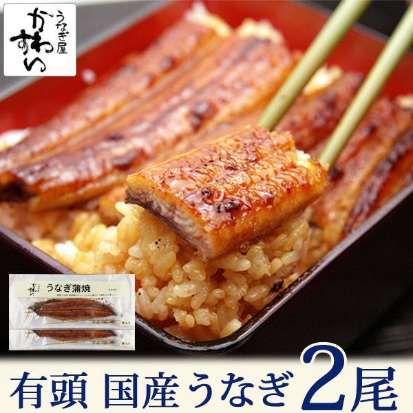 国産 うなぎ 長蒲焼 2尾セット 鰻 ウナギ プレゼント ギフト 2人前 頭付き セール 送料無料