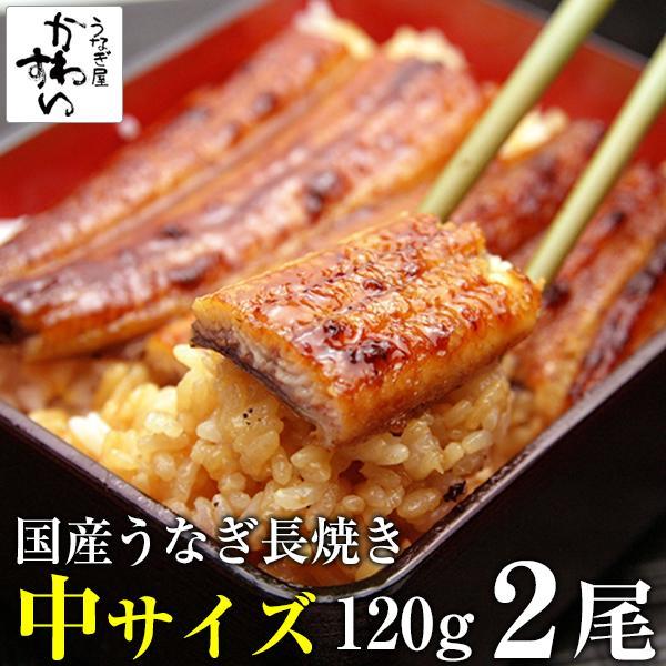 国産 うなぎ 蒲焼き 120g-149g×2本|kawaguchisuisan