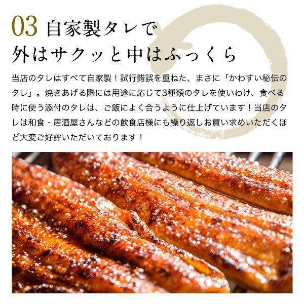 国産 うなぎ 蒲焼き 超特大サイズ 200g 2本セット ウナギ 鰻 送料無料|kawaguchisuisan|09