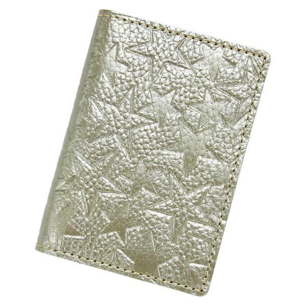 【ネコポス】カードケース 二つ折り クリアポケット レディース 星柄 金 銀 ゴールド シルバー AGILITY affa アジリティアッファ ブラン