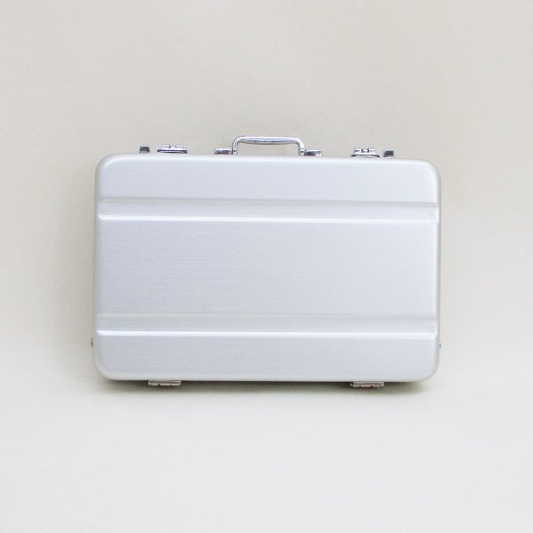 シガレットケースタバコケースカードケースアルミ製ミニトランク型A1010001(B)シングルライン日本製ウインドミル/メール便消