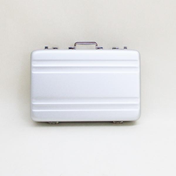 シガレットケース タバコケース カードケース アルミ製ミニトランク型 A1010002(A)ダブルライン 日本製 ウインドミル