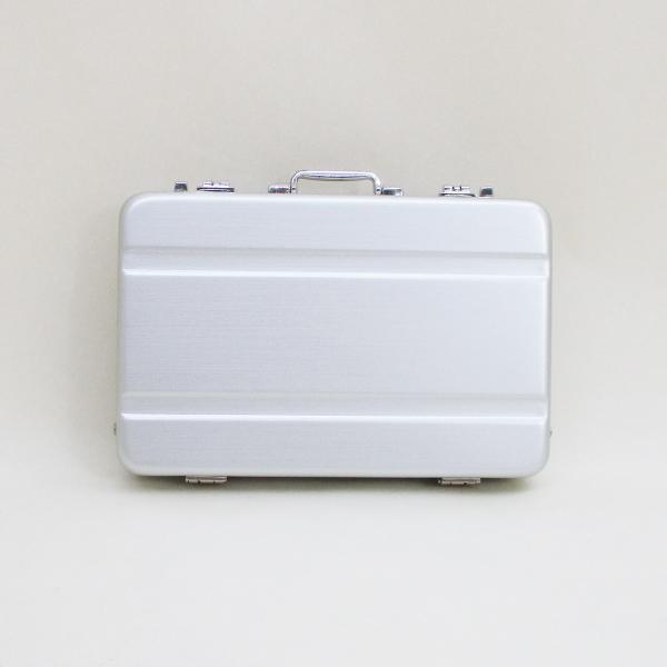 シガレットケース タバコケース カードケース アルミ製ミニトランク型 A1010002(B)シングルライン 日本製 ウインドミル