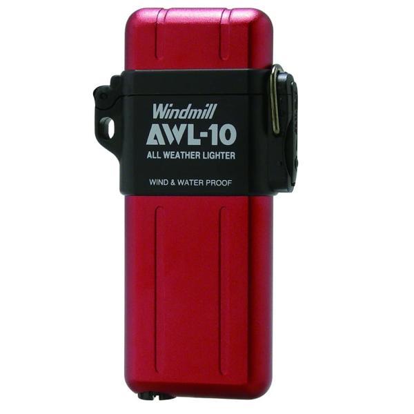 ウインドミル AWL-10 ターボライター レッド/送料無料
