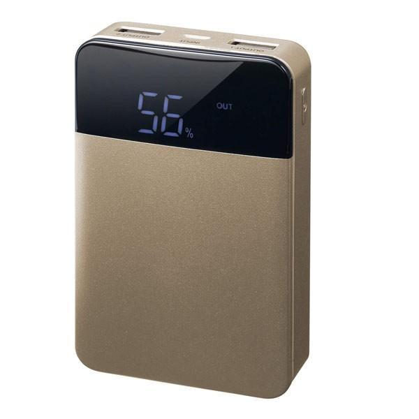 モバイルバッテリー 10000mAH USB出力5V 2.1A  PSEマーク有 GH-BTF100-GD 金 グリーンハウス/1197/送料無料メール便|kawanetjigyoubu|03