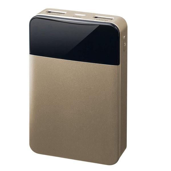 モバイルバッテリー 10000mAH USB出力5V 2.1A  PSEマーク有 GH-BTF100-GD 金 グリーンハウス/1197/送料無料メール便|kawanetjigyoubu|04