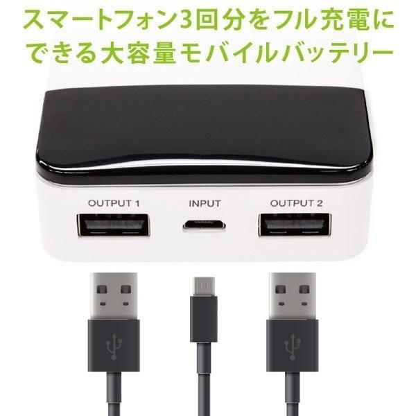 モバイルバッテリー 10000mAH USB出力5V 2.1A  PSEマーク有 GH-BTF100-WH 白 グリーンハウス/1203/送料無料メール便|kawanetjigyoubu|11