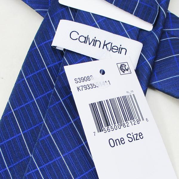 ネクタイ カルバンクライン Calvin Klein シルク系 ネクタイ k7933551411ブルー系/送料無料メール便 ポイント消化|kawanetjigyoubu|04