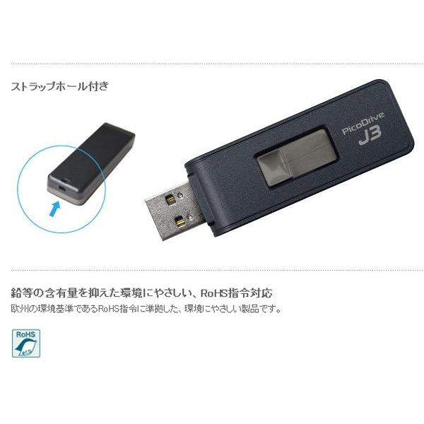 グリーンハウス 150倍速 USB2.0&3.0メモリ 64GB/GH-UFD3-64GJ|kawanetjigyoubu|02