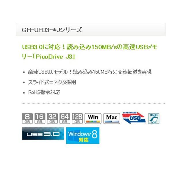 グリーンハウス 150倍速 USB2.0&3.0メモリ 64GB/GH-UFD3-64GJ|kawanetjigyoubu|03