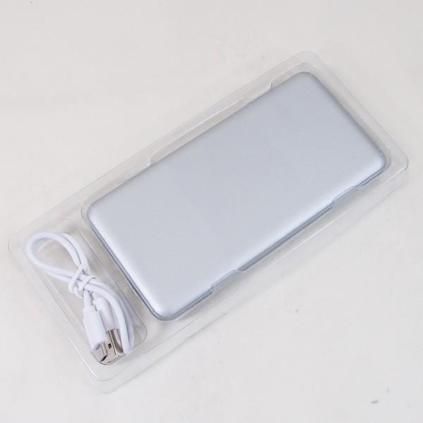モバイルバッテリー 10000mAH TypeC対応  USB出力5V 2.4A シルバー HD-MBC10000SV PSEマーク有 HIDISC 1392/送料無料メール便|kawanetjigyoubu|03