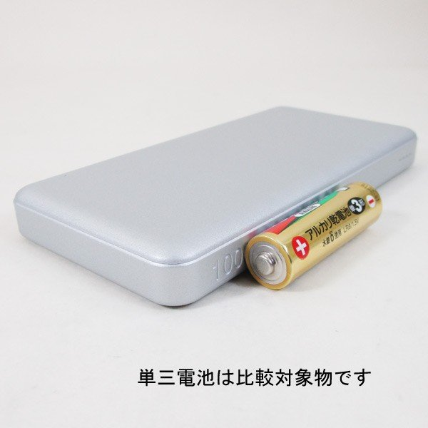 モバイルバッテリー 10000mAH TypeC対応  USB出力5V 2.4A シルバー HD-MBC10000SV PSEマーク有 HIDISC 1392/送料無料メール便|kawanetjigyoubu|06