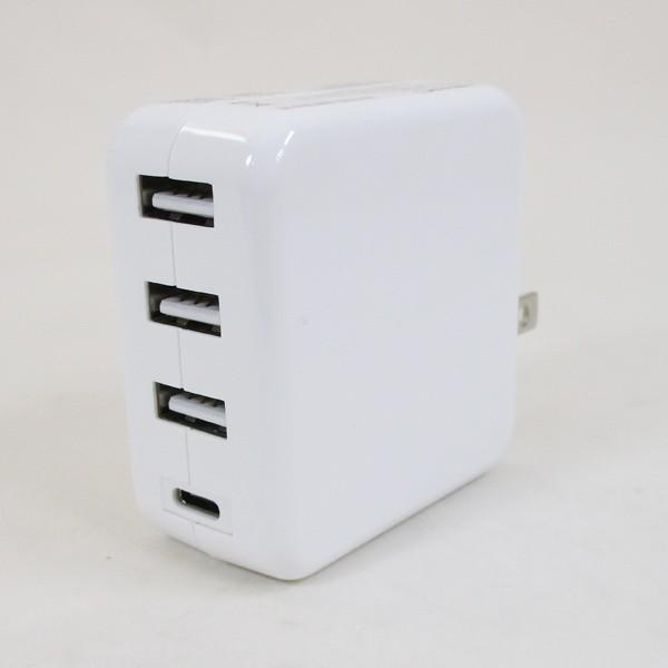 AC充電器/4ポートタイプC USB充電器 PD対応 自動識別IC付 急速充電 最大3.4A ML-PDUS3P36W/HIDISC 1187|kawanetjigyoubu|02
