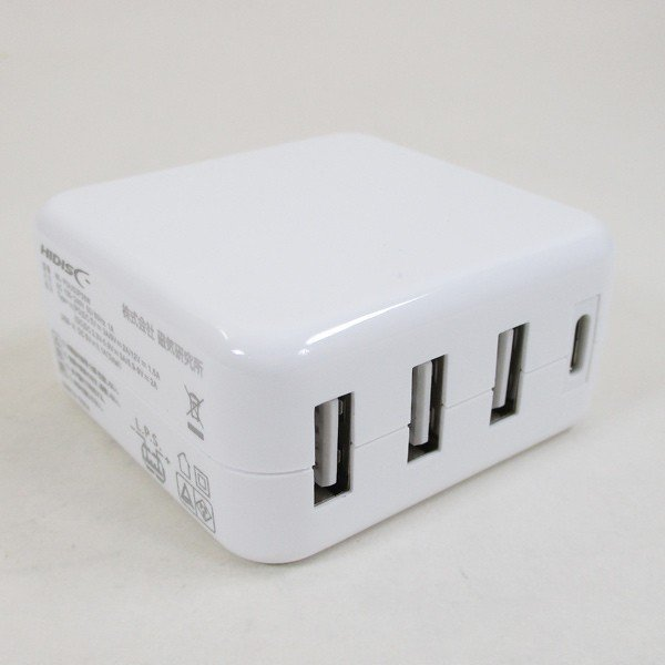 AC充電器/4ポートタイプC USB充電器 PD対応 自動識別IC付 急速充電 最大3.4A ML-PDUS3P36W/HIDISC 1187|kawanetjigyoubu|03