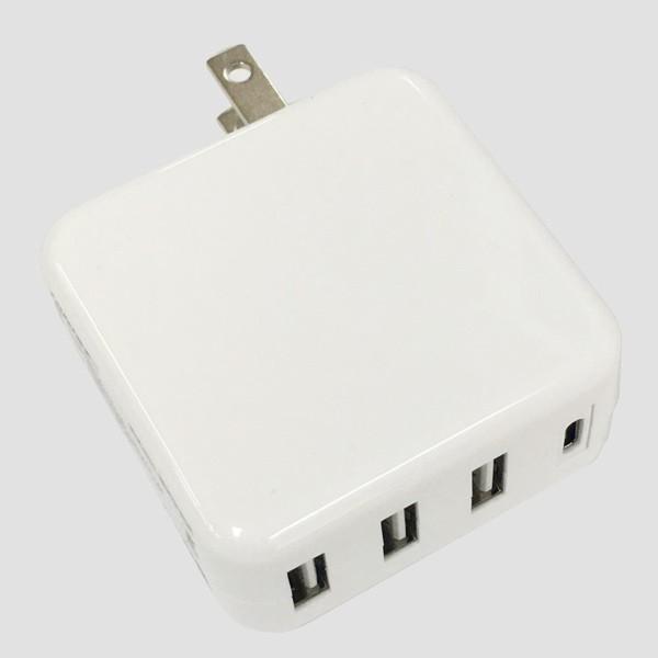 AC充電器/4ポートタイプC USB充電器 PD対応 自動識別IC付 急速充電 最大3.4A ML-PDUS3P36W/HIDISC 1187|kawanetjigyoubu|07