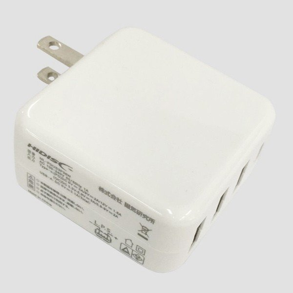 AC充電器/4ポートタイプC USB充電器 PD対応 自動識別IC付 急速充電 最大3.4A ML-PDUS3P36W/HIDISC 1187|kawanetjigyoubu|09