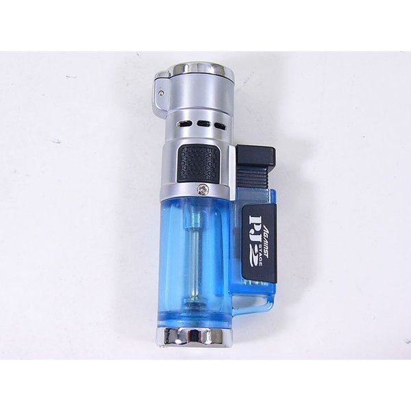 ツインライト アゲインスト トリプルジェット ガス注入式ライター PJ Stage2 ブルー