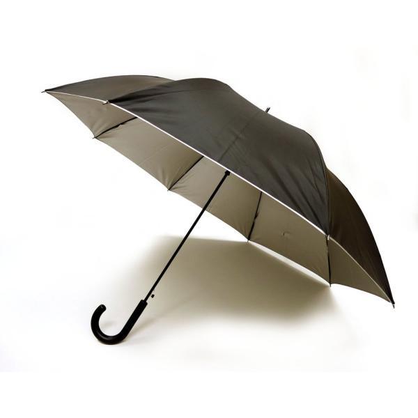 日傘 晴雨兼用傘 男女お使いいただける ジャンプ傘 グラスファイバー ブラック#672x1本/送料無料|kawanetjigyoubu|03