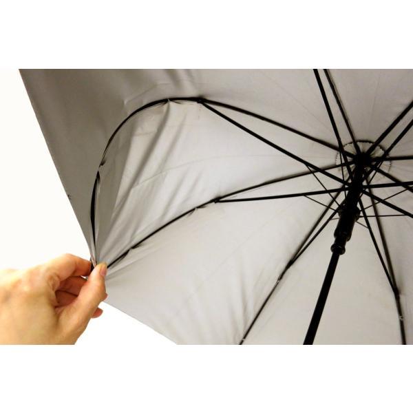 日傘 晴雨兼用傘 男女お使いいただける ジャンプ傘 グラスファイバー ブラック#672x1本/送料無料|kawanetjigyoubu|07