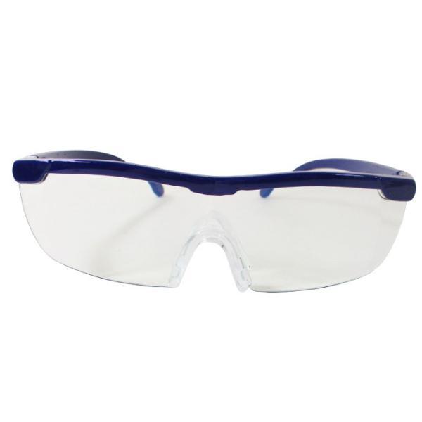 メガネ型ルーペ ブルーライトカット 1.6倍 ノンスリップ鼻パッド 眼鏡型ルーペ WJ-8069x3本セット/卸