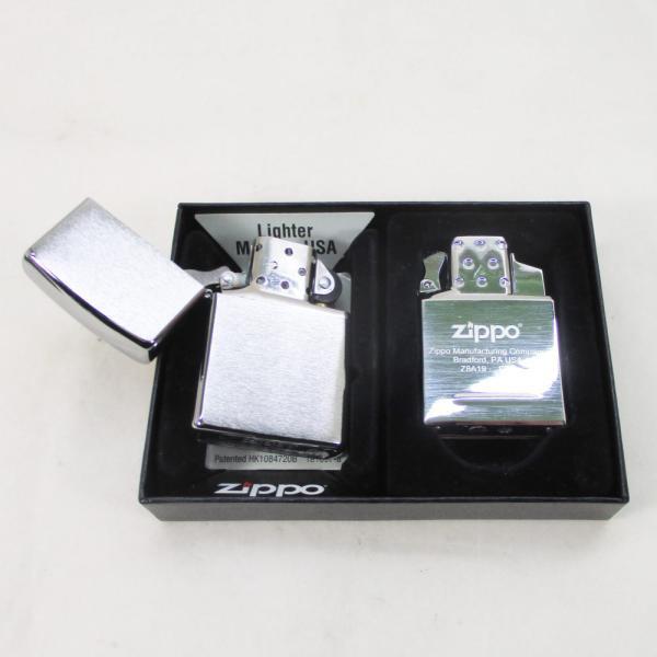 ジッポー マルチインサイドユニットセット 純正ガスライター+200番 ギフトセット/送料無料メール便 ポイント消化